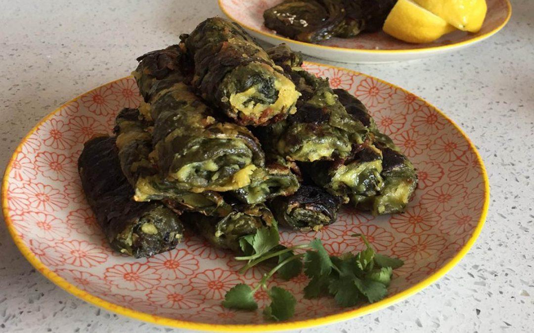 Spinach Rolls AKA fake Patha